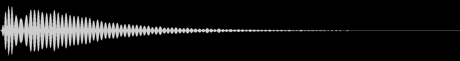 水中:低周波の衝撃水中の水滴、落下...の未再生の波形