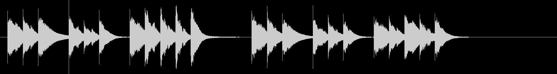 木琴で作った明るく短いジングルの未再生の波形