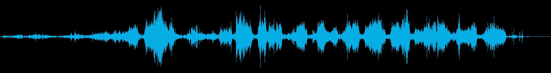 一定のランダウンヒル、ミディアム、...の再生済みの波形