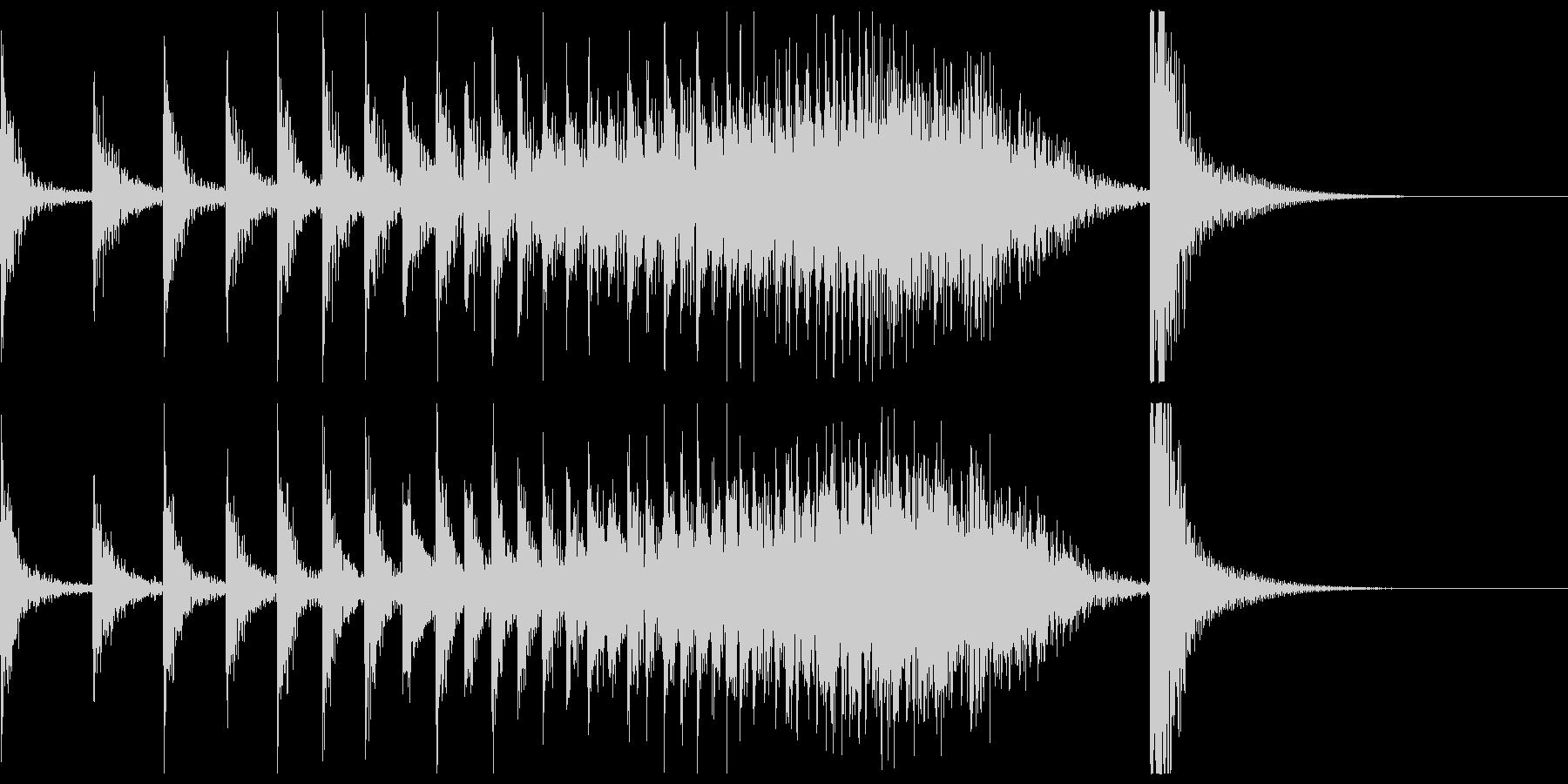 ドコドコ…ドドン!和太鼓ロール/ロングの未再生の波形