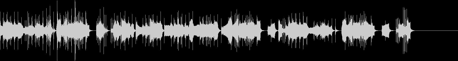 コミカルな低音楽器メインの曲の未再生の波形
