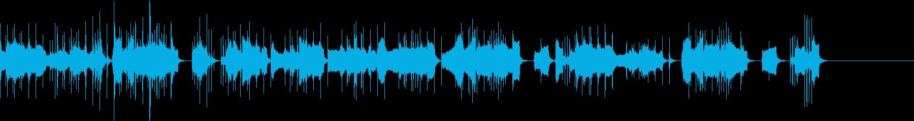 コミカルな低音楽器メインの曲の再生済みの波形