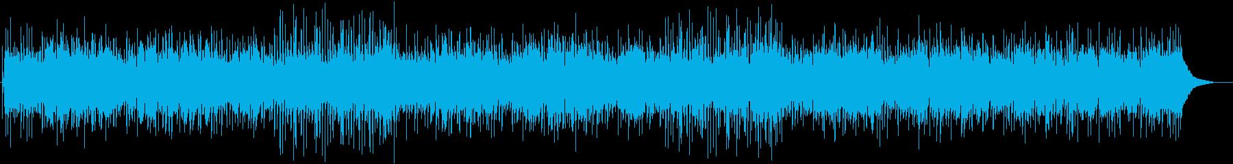 インディーアコースティックポップソングの再生済みの波形