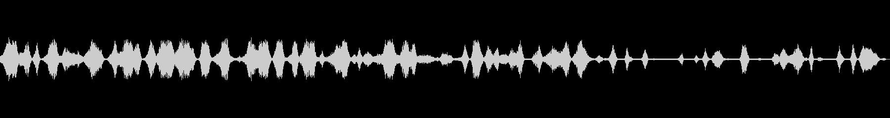 ザザザ(レシーバーやラジオなどのノイズ)の未再生の波形