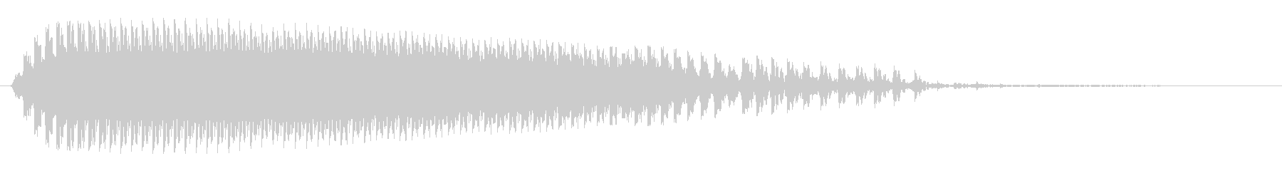 モォ〜という牛の声の未再生の波形