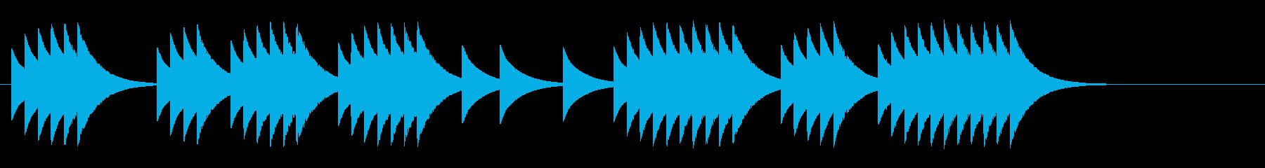 マシンガン連射の長さ組み合わせの再生済みの波形