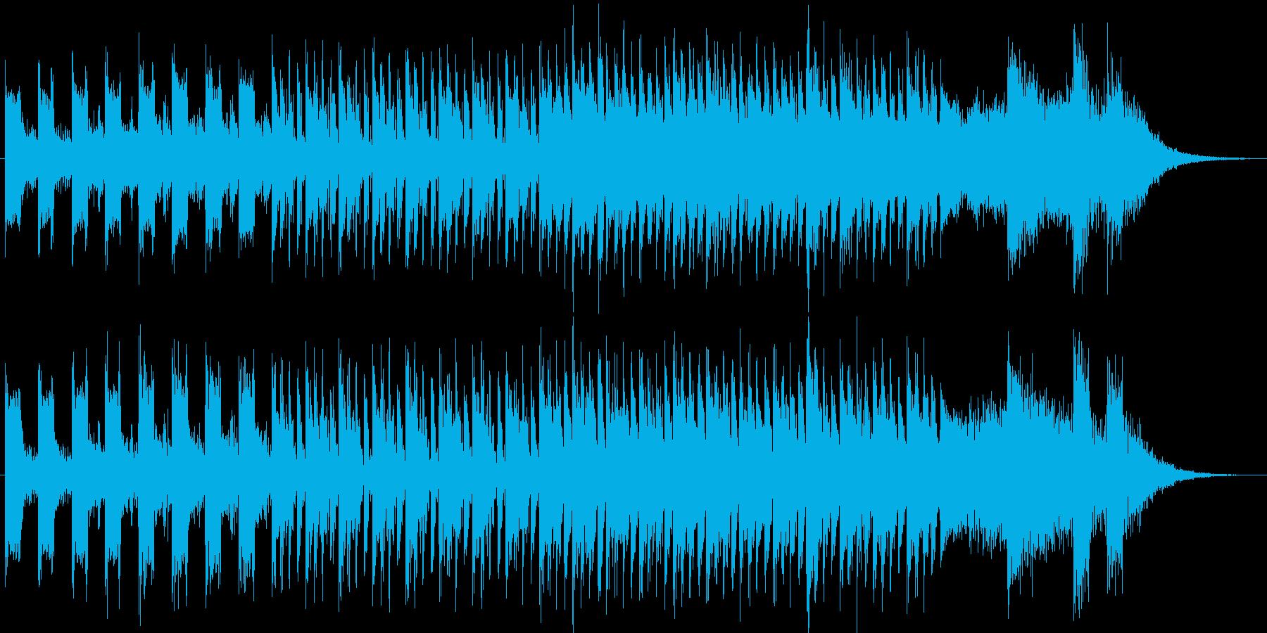 ヴァーチャル空間風テクノポップの再生済みの波形