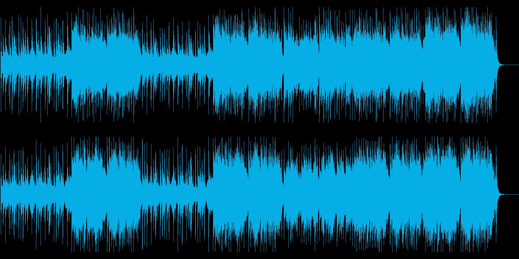 琴と篠笛メインの荘厳めなゆったりアジアンの再生済みの波形