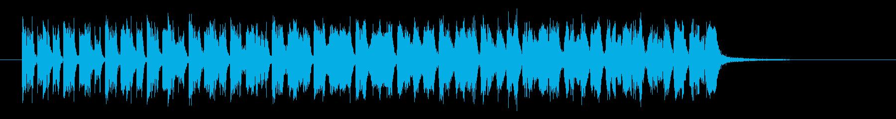 近未来的なビートがクールなテクノの再生済みの波形