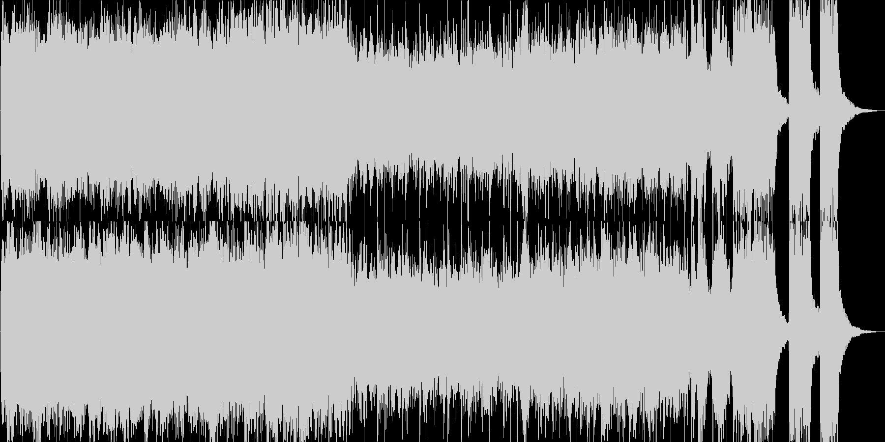 楽しいハロウィンの始まりを描いたBGMの未再生の波形