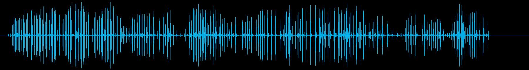 シマリスのおしゃべり。高音の安定し...の再生済みの波形