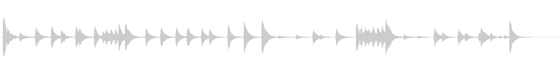 アコギのボディを叩く音の未再生の波形