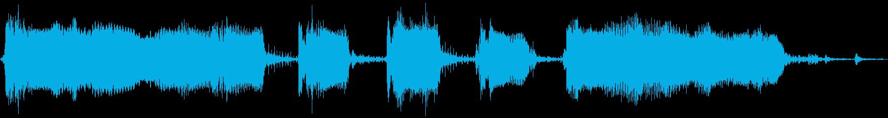 【エレキ ギター】ワウペダルの再生済みの波形