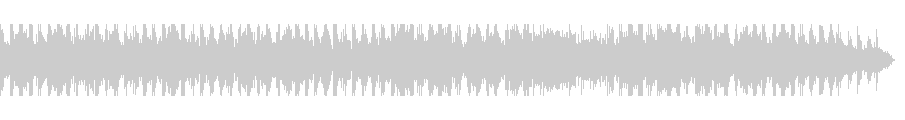 落ち着いたミニマル風のピアノ曲の未再生の波形