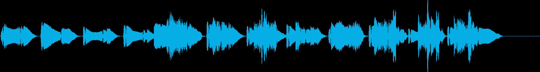 甘美なメロディーのサックスとピアにかの曲の再生済みの波形