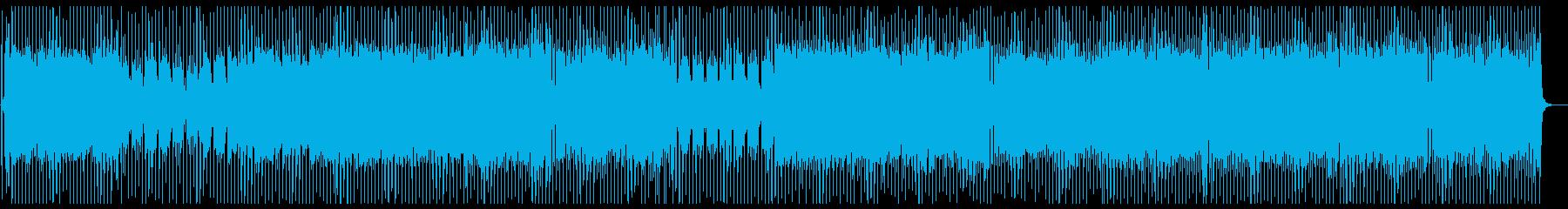 チップチューン 四つ打ちロック 軽快の再生済みの波形