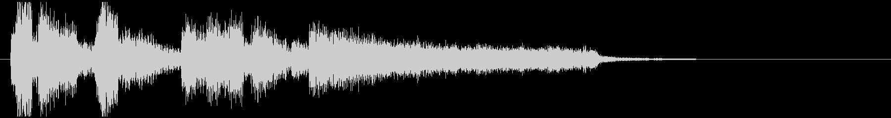 スタイリッシュな場面転換系ジャズジングルの未再生の波形