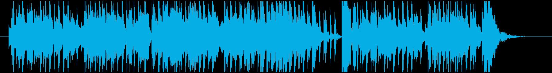 愉快な雰囲気のベルの小曲の再生済みの波形