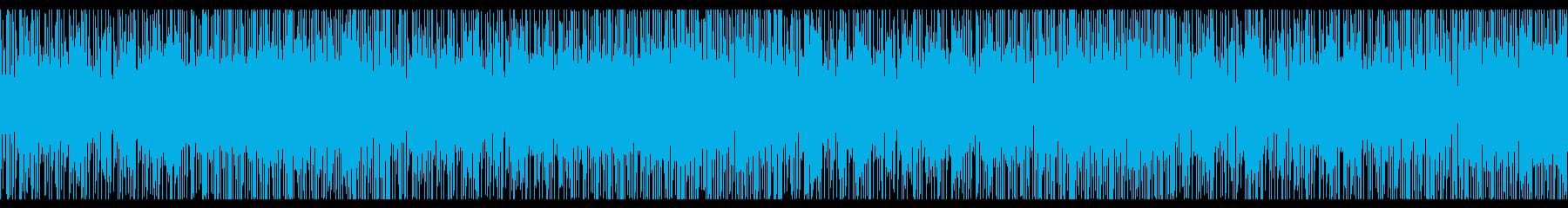 スラム街をイメージしたファンクなループ曲の再生済みの波形