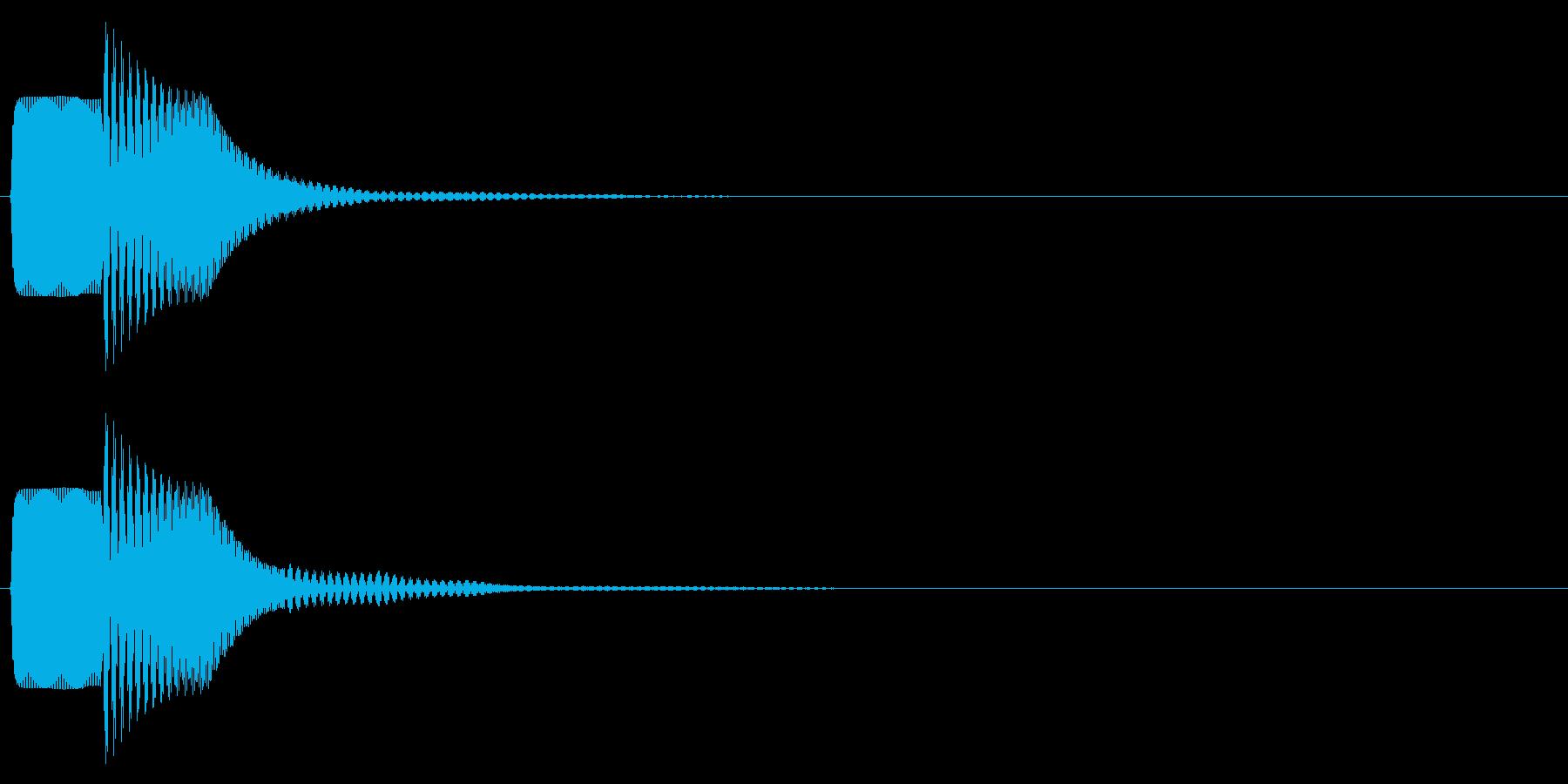 ピコン(キャンセル,終了,停止)_01の再生済みの波形