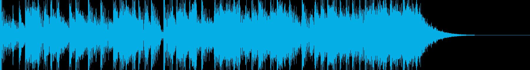 クールでファンキーなエレキロックジングルの再生済みの波形