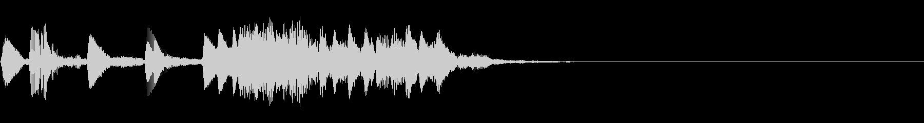 低い音のレベルアップ音【2】の未再生の波形