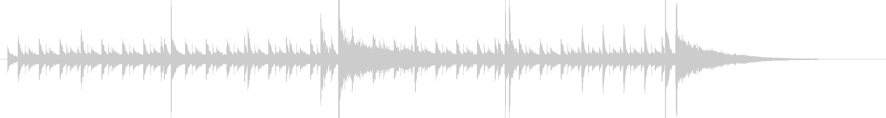 15秒・高速ジャズ・ドラムソロの未再生の波形