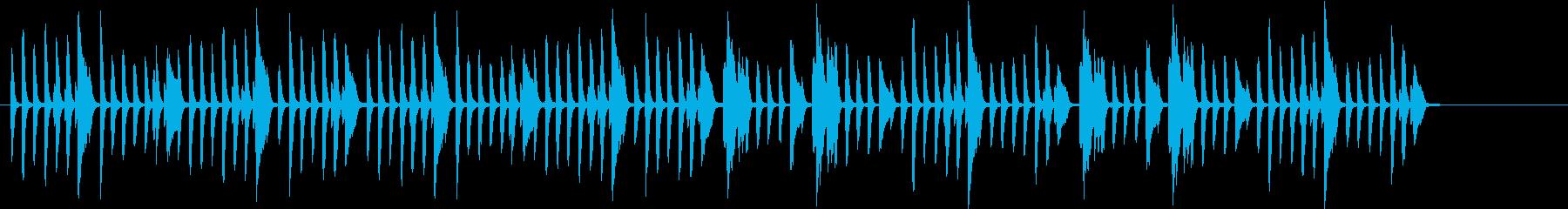楽しく弾むBGMの再生済みの波形