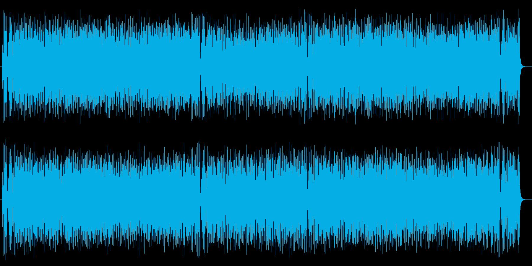 和風なアップテンポで楽しいポップスの再生済みの波形