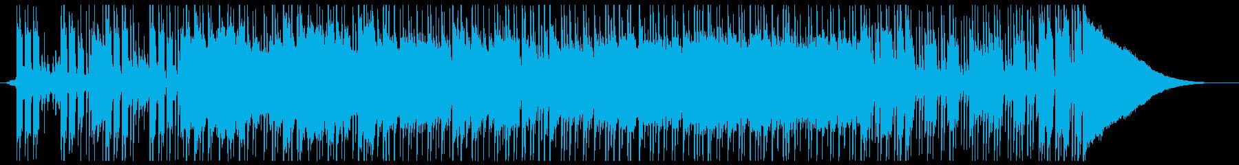 ストイックでクールなギターインストの再生済みの波形