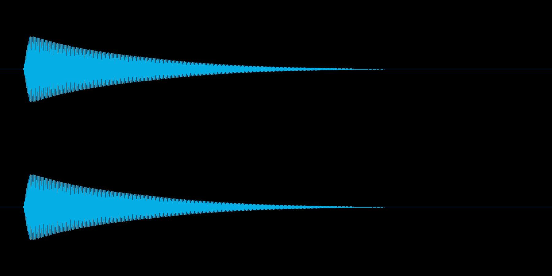 ポン 低【キャンセル音:おしゃれで綺麗】の再生済みの波形