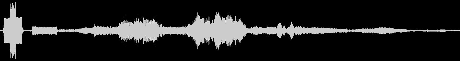 確認音付きボタン押下の未再生の波形