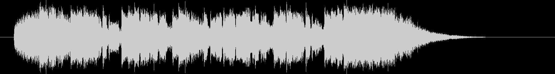 軽快なリズムとピアノによるポップスの未再生の波形