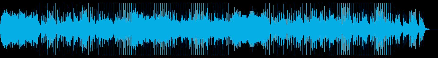 ローファイスタイルの明るく落ち着いた背景の再生済みの波形