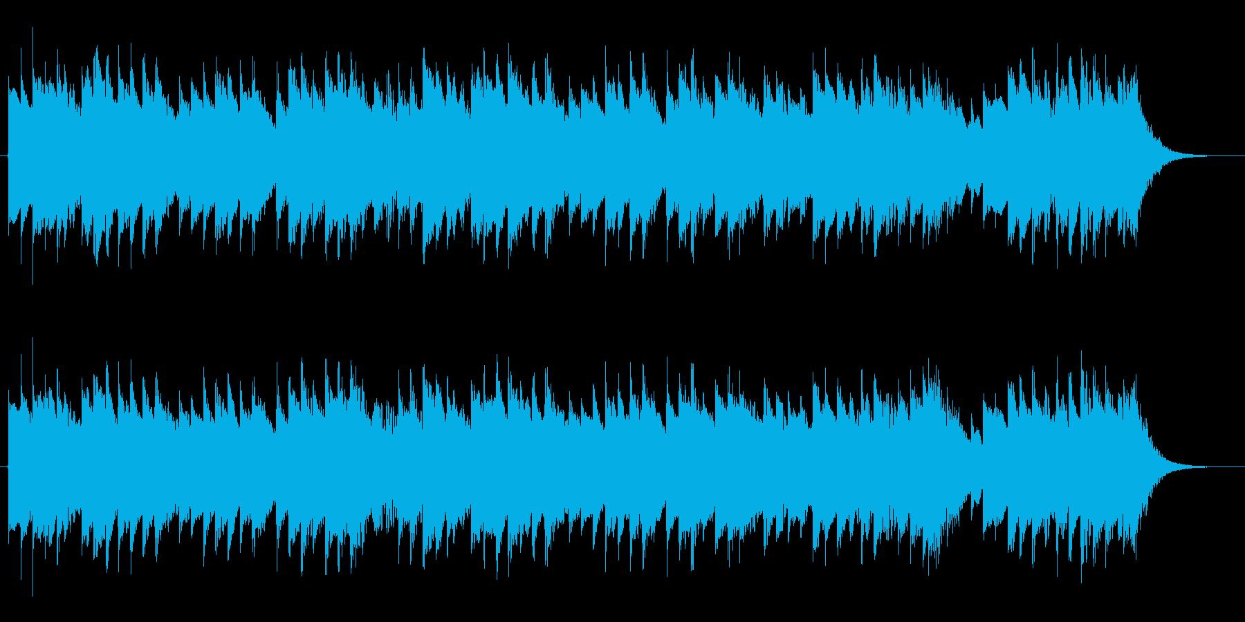 軽快なオルゴールジングル(27秒)の再生済みの波形