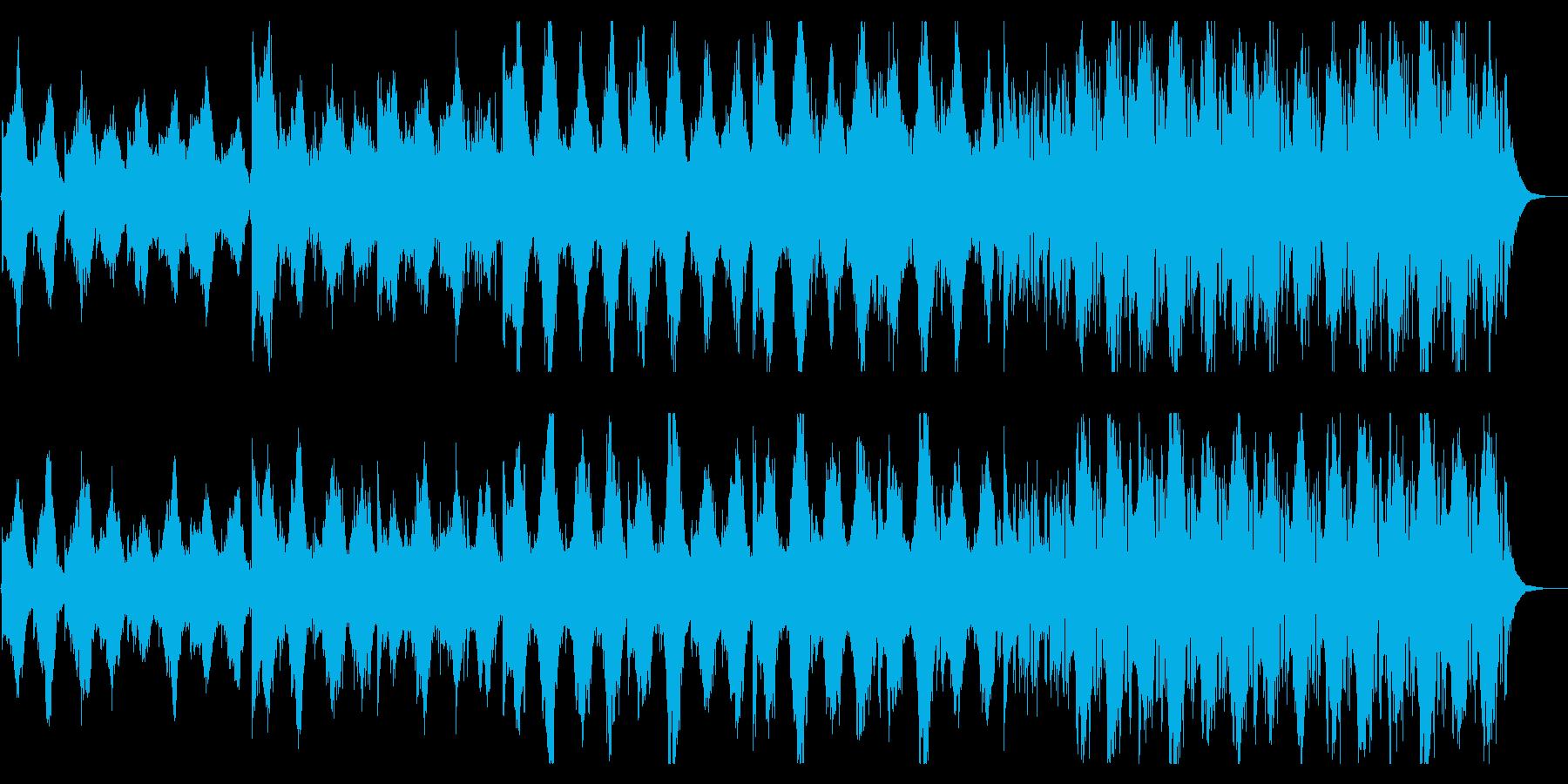 陰鬱なストリングスとエレクトロニクスの融の再生済みの波形