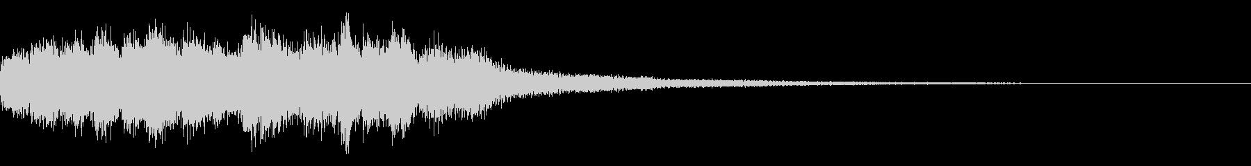 デジタル、サイバーなゲームオーバー音の未再生の波形