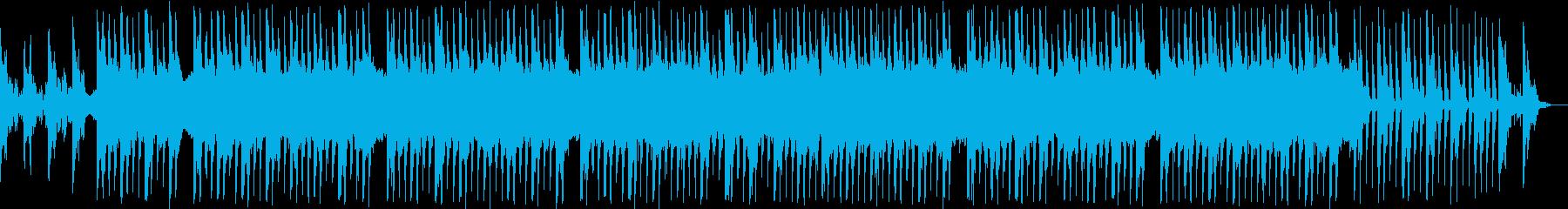 爽やかで軽快なテクノポップの再生済みの波形