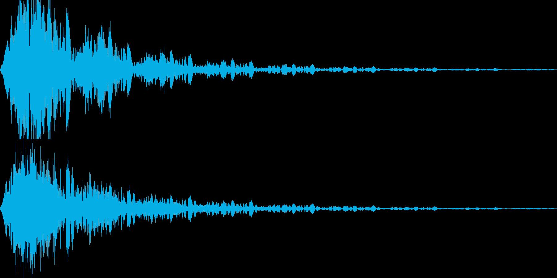 高速移動(シュンッ)の再生済みの波形