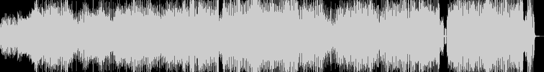 クセになるメロディのコミカルテクノ+掛声の未再生の波形