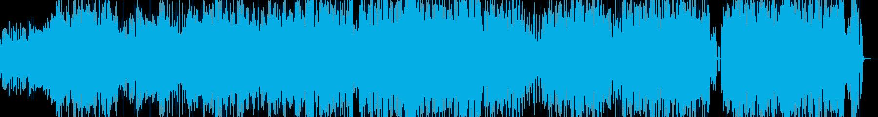 クセになるメロディのコミカルテクノ+掛声の再生済みの波形
