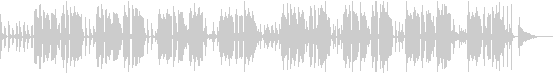 アコギとピアニカのほのぼのとしたBGMの未再生の波形