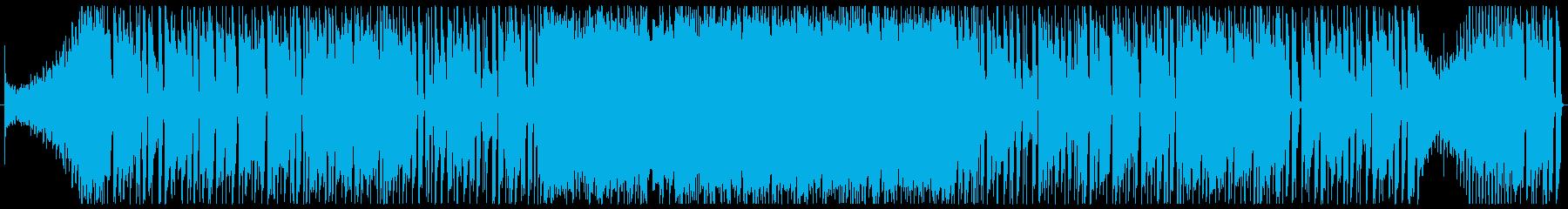 ワイルドなブルージーロックBGM 2分の再生済みの波形