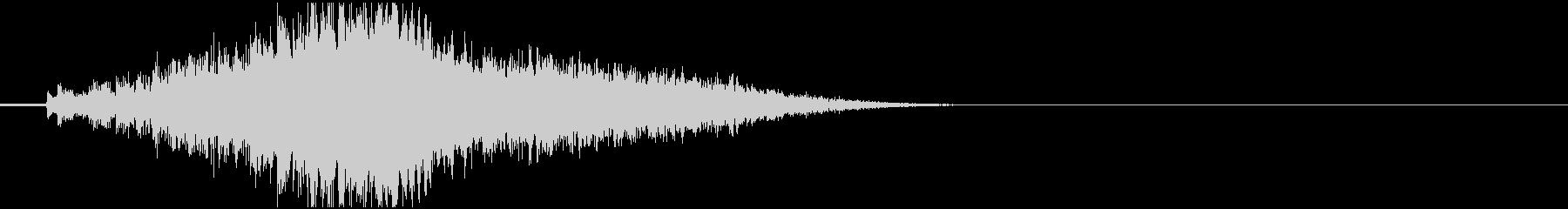 ピアノ効果音 アルペジオ2の未再生の波形
