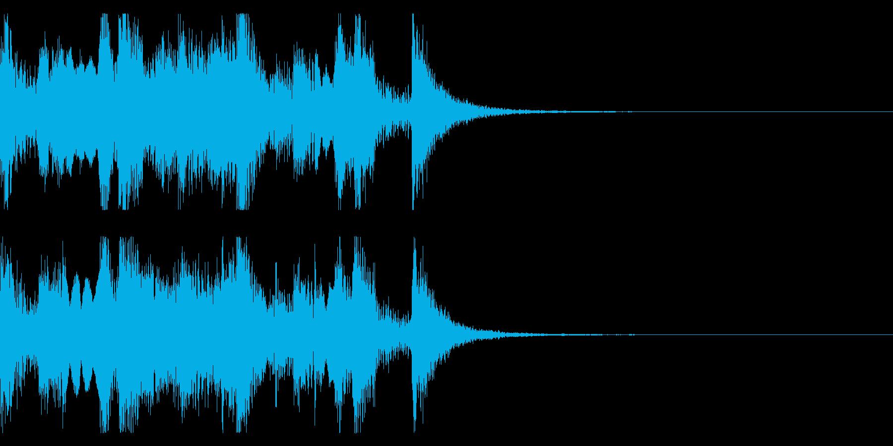 和やかな篠笛の和風ジングルの再生済みの波形