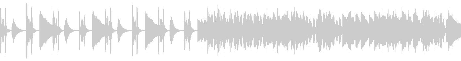 心躍るようなピアノポップスの未再生の波形