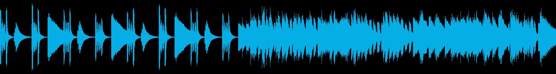 心躍るようなピアノポップスの再生済みの波形