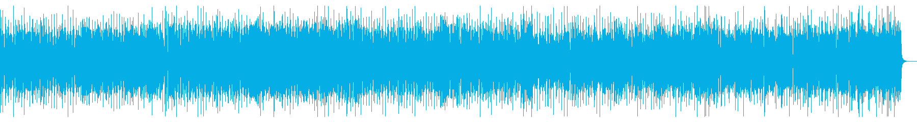 ヘヴィーなリフのロックの再生済みの波形