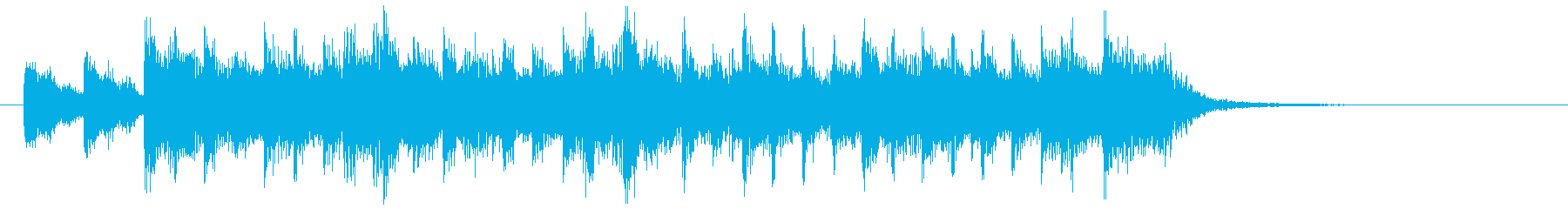 鐘の音がさわやかなポップミュージックの再生済みの波形