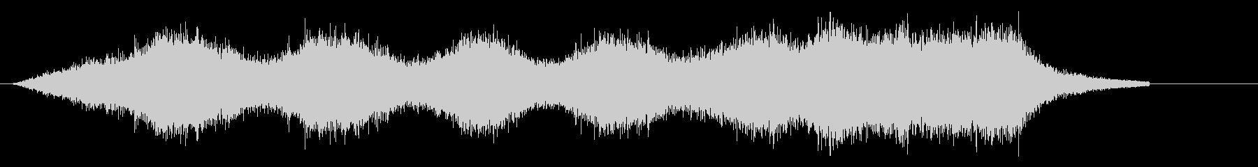 コードレス掃除機を使用する音の未再生の波形